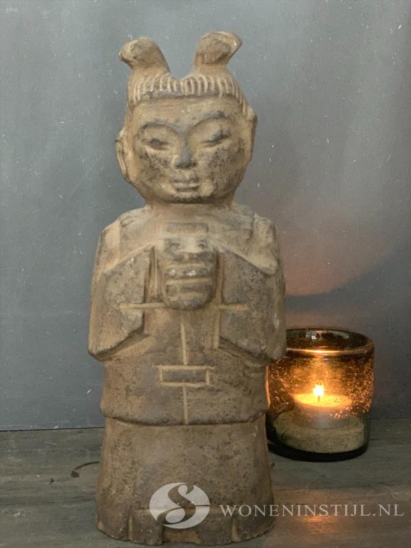 Beeldje Chinees meisje| steen