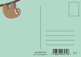 Postkaart | Hang in there | Luiaard