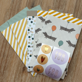 Voordeelsetje | Cadeauzakjes + stickers | Mix and match