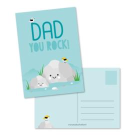 Postkaart   Dad you rock