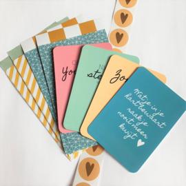 Voordeelset kaarten - stickers - cadeauzakjes