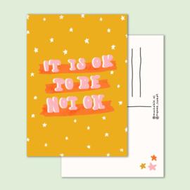 Postkaart | It's ok to be not ok