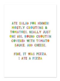 Postkaart   Pizza quote