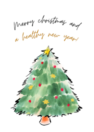 Postkaart | Merry christmas and a healthy new year