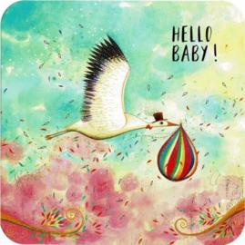 Postkaart | Hello Baby | 14x14