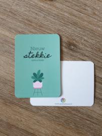 Postkaart | Nieuw stekkie