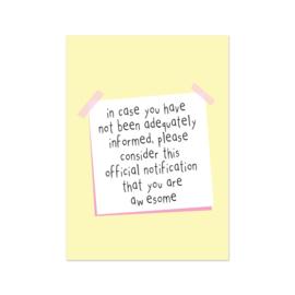 Postkaart | Awesome