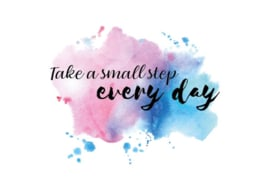 Postkaart | Take a small step every day