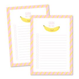 Notitieblokje A6 | Gaan met die banaan