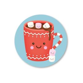 Stickers | warm wishes | 5 stuks