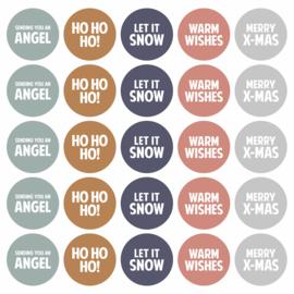 Stickers | Kerstwensen | 10 stuks