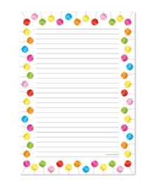 Schrijfblok met lolly's A4