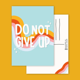 Postkaart | Do not give up