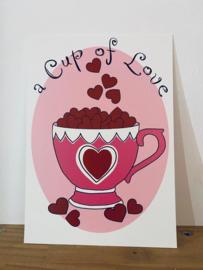 Postkaart | A cup of love
