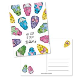 Postkaart | Wie zoet is krijgt lekkers