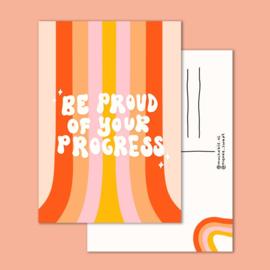 Postkaart | Be proud of your progress