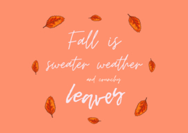 Postkaart   Fall is sweather weather and crunchy leaves