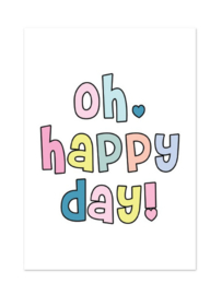 Postkaart | Oh happy day