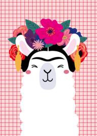 Postkaart | Frida Kahlo Llama