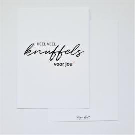 Postkaart | Heel veel knuffels voor jou