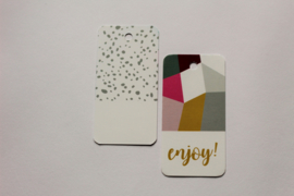 Cadeaulabels | Floral statement | Enjoy | 2 stuks