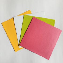 Envelop   Vierkant roze