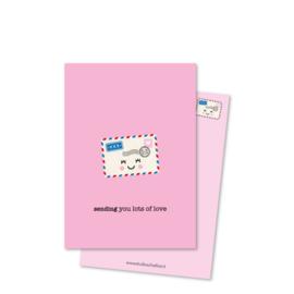 Postkaart | Sending you lots of love