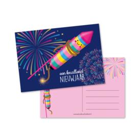 Postkaart   Knallend nieuwjaar