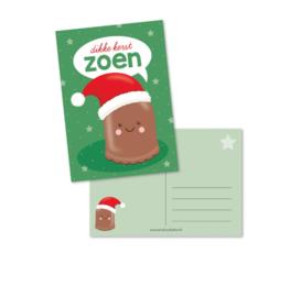 Postkaart | Dikke kerstzoen