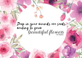 Postkaart | Beautiful flowers
