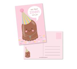 Postkaart | Een feestzoen voor jou