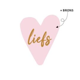 Stickers | Roze hart met liefs | 10 stickers