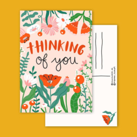 Postkaart | Thinking of you