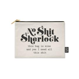 Canvas Etui - This bag is mine - No shit Sherlock