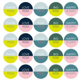 Stickers | Kleurrijke collage | 10 stuks