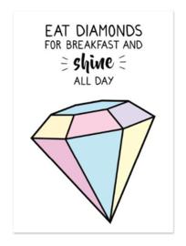 Postkaart | Eat diamonds