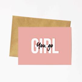 Postkaart Hebbers | You go GIRL