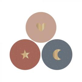 Stickers | Hart - Ster - Maan | 3 stuks