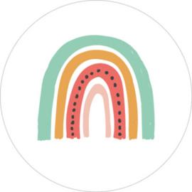 Sticker | Meloen regenboog | 5 stuks