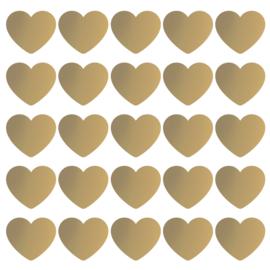 Stickers | Gouden hart | 10 stuks