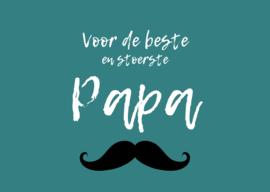 Postkaart | Voor de beste en stoerste papa