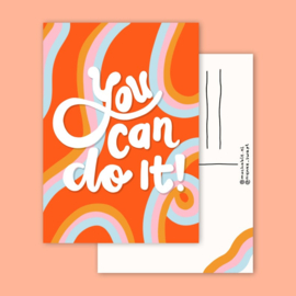 Postkaart | You can do it
