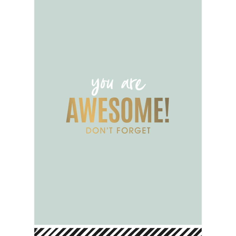 Postkaart | You are awesome! Don't forget