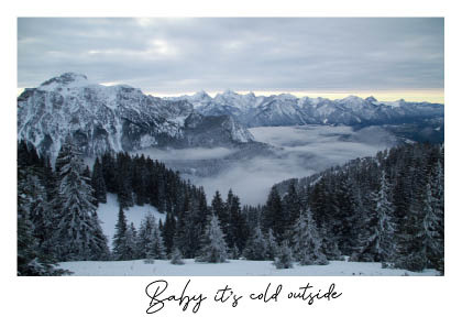 Postkaart | Baby it's cold outside