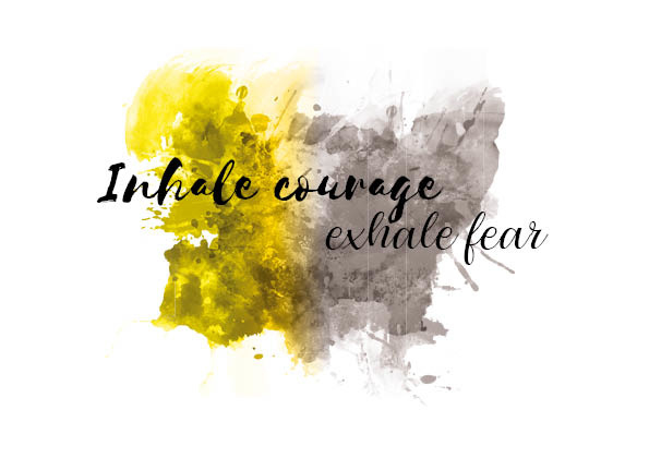 Postkaart | Inhale courage exhale fear
