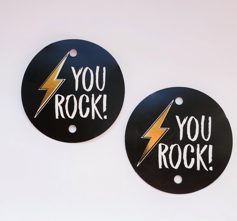 Cadeaulabels | You rock | 2 stuks