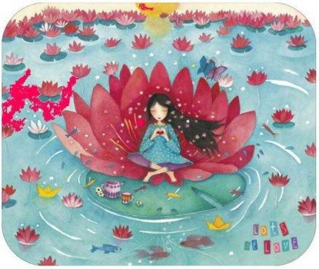 Postkaart   Lots of love   Lotus
