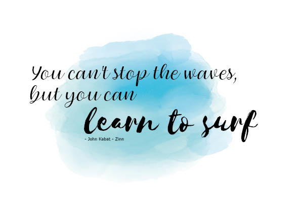 Postkaart | You can't stop the waves