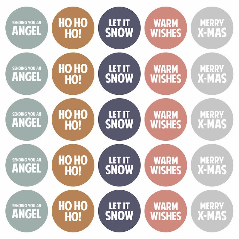 Stickers | Kerstwensen | 5 stuks