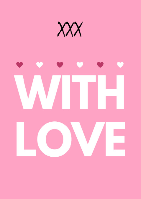 Postkaart | With love